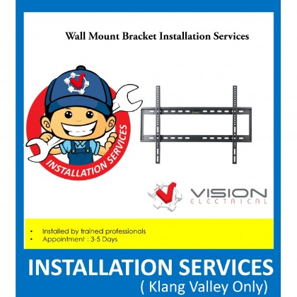 Professional Flat LED TV Wall Mount Bracket Installation Service ( Only For Klang Valley )