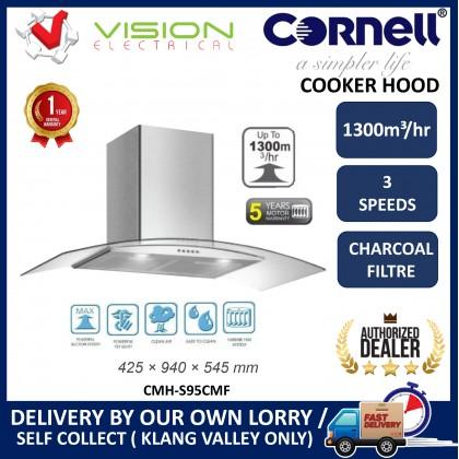 [COMBO] CORNELL CMH-S95CMF 1300m³/Hr Cooker Hood + CORNELL CBC-E7402T Built In 2 Burners Vitroceramic Hob Dapur Seramik 抽油烟机配套