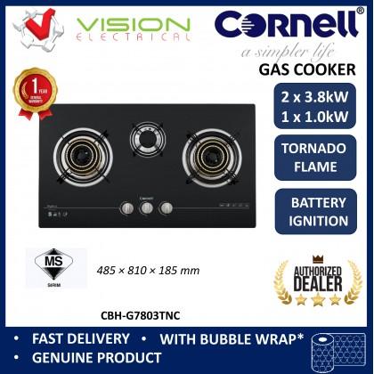 [COMBO] CORNELL CMH-PE55CBF 1500m³/Hr Cooker Hood + CORNELL CBH-G7803TNC 3 Burners Gas Cooker Dapur Gas 抽油烟机配套