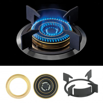 [COMBO] CORNELL CMH-PE55CBF 1500m³/Hr Cooker Hood + CORNELL CBH-G782MCS 2 Burners Gas Cooker Dapur Gas 抽油烟机配套