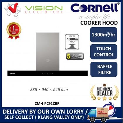[COMBO] CORNELL CMH-PC91CBF 1300m³/Hr Cooker Hood + CORNELL CBH-G863MCS 3 Burners Gas Cooker Dapur Gas 抽油烟机配套