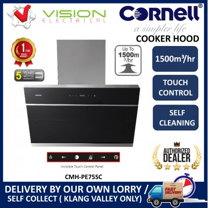 [COMBO] CORNELL CMH-PE75SC 1500m³/Hr Cooker Hood + CORNELL CBH-G7803TNC 3 Burners Gas Cooker Dapur Gas 抽油烟机配套